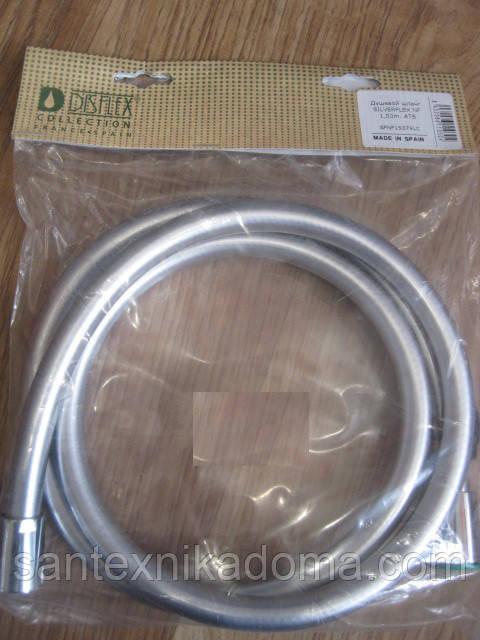 Усиленный шланг для душа силиконовый высокого давления Испания 150 см (1, 5 м) Disflex