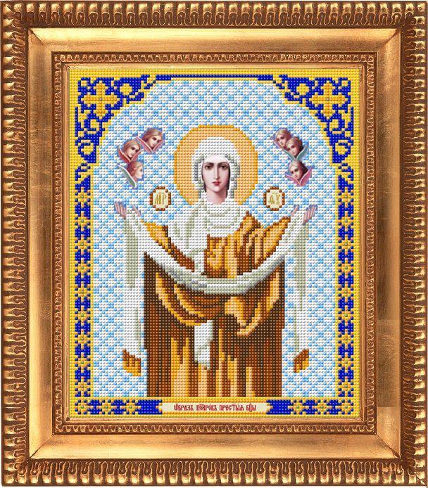 """Схема для вышивки бисером """"Богородица Покрова"""" И-4018"""
