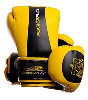 Перчатки боксерские  POWERPLAY PREDATOR PP3003-BKY 10-12oz черно-желтый