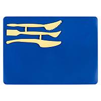 Набор для лепки, синий. В набор входит досточка для лепки размером 180х250 мм и 3 стека. Индивидуальная упаковка.