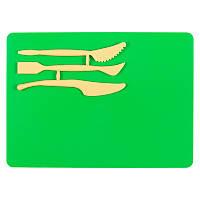 Набор для лепки, зеленый. В набор входит досточка для лепки размером 180х250 мм и 3 стека. Индивидуальная упаковка.