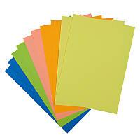 Бумага цветная двусторонняя неоновая A4, 10 листов/5 цветов. Плотность 80г/м2. Упаковка: картонная папка.