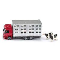 SIKU SUPER Авто для перевозки животных + 2 коровы