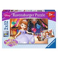 Ravensburger Пазлы 2х12 Дисней Принцесса София