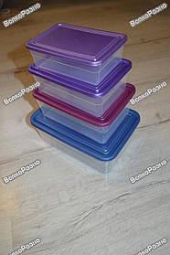Набор контейнеров для хранения продуктов. Пластиковые судочки.