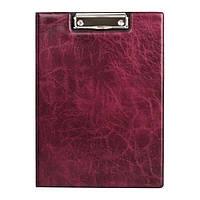 Папка-планшет. Материал обложки: Xepter. Металлический клип. Внутренний прозрачный карман. Цвет: бордовый.