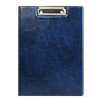 Папка-планшет. Материал обложки: Xepter. Металлический клип. Внутренний прозрачный карман. Цвет: синий.