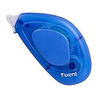 Клей Axent 7012-07-A ленточный с аппликатором, 8 мм х 8 м, перманентный. Цвет корпуса  голубой