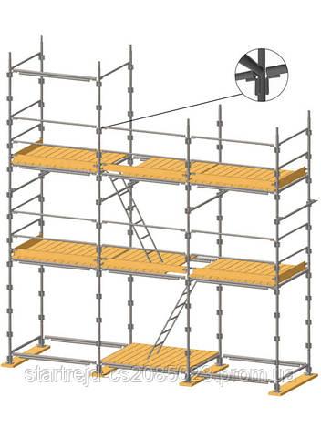 Штыревые строительные леса (ригельные)