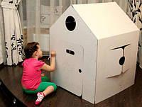 Домик раскраска из картона для игр и творчества., фото 1