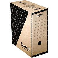 Бокс архивный из гофрокартона. Размер 350*255*80мм. Цвет: крафт. Упаковка: пакет.