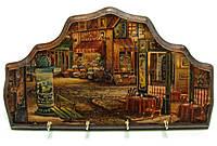 """Ключница вешалка """"Кафе"""", массив дерева (34х19 см.)"""