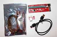 Райзер Riser  v.007S SATA PCI-E 1X to 16Xc  USB 3.0 60 см