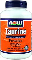 Таурин в порошке, Now Foods, Taurine Powder, 227 gram