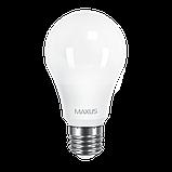 LED лампа Maxus 12w 4100K E27, фото 2