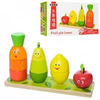 "Деревянная игрушка ""Геометрика"" овощи, MD 1201"