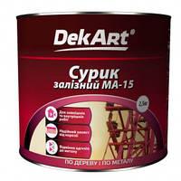 Сурик железный МА 15 DekArt красно-коричневый, 60 кг
