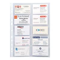 Файл для визиток. Материал: полипропилен. Плотность: 70мкм.Вместимость: 20 визиток. 10 штук в упаковке
