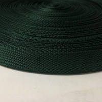 Тесьма-лента ременная 25мм зеленый темный (100 метров)