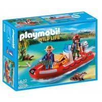 Конструктор Лодка с браконьерами, Playmobil (5559)