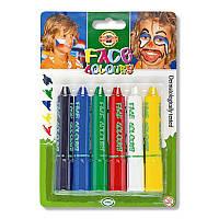 """Краски для лица  """"Standard colors"""", 6 цветов."""