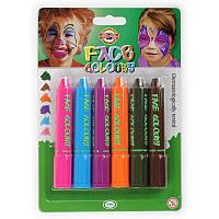 """Краски для лица  """"Mix colors"""", 6 цветов."""