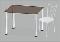 Стеклянный обеденный стол Mono P mini B