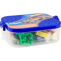 Пластилин мягкий, на восковой основе HW. 7 цветов, 380 г и 6 инструментов. Упаковка - пластиковый бокс.