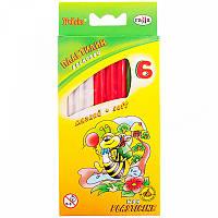 """Пластилин """"Пчёлка"""", 6 цветов, на восковой основе,  вес 73 г,  в картонной упаковке с еврозавесом, со стеком внутри."""