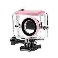 Аквабокс, водонепроницаемый бокс для экшн камер Xiaomi YI (код № XTGP250) - розовый