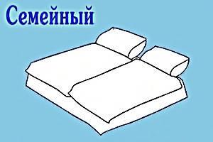 Семейные комплекты, cатин жаккард Tiare, постельное Viluta.