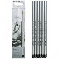 Набор карандашей чернографитных,12 штук 3Н-4В, Marco