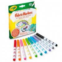 Фломастеры для рисования по ткани 10 шт, Crayola (58-8633)