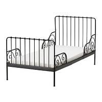 MINNEN Каркас раздв кровати+реечн днище,, черный, фото 1