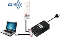 РоЕ инжектор питание на сетевое устройство по кабелю «витая пара»