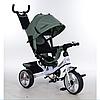 Трехколесный детский велосипед TURBO TRIKE M 3113-17 хаки с колесами EVA***