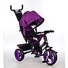Трехколесный детский велосипед TURBO TRIKE M 3113-18 фуксия  с колесами EVA***