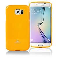 TPU чехол Mercury Jelly Color series для Samsung G925F Galaxy S6 Edge Желтый