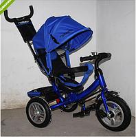 Трехколесный велосипед TURBO TRIKE M 3113A-14 синий , колеса надувные ***
