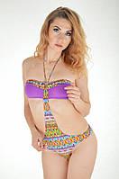 Купальник монокини бандо с бюстгальтер пуш ап с стразами Vacanze Italiane IV 3510 42 Фиолетовый