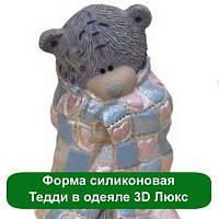 Силиконовая форма Тедди в одеяле 3D Люкс