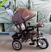 Трехколесный велосипед TURBO TRIKE M 3115HAL-13 шоколадный, термо кожа,колеса надувные ***