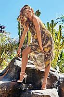 Цветной пляжный сарафан Amarea 18089 42(S) Зеленый Amarea 18089