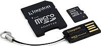 Карта памяти KINGSTON microSDHC 32GB Class 10 +SD adapter +USB reader
