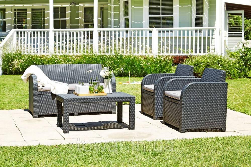 Садовая мебель набор Allibert 4-местный антрацит, фото 1