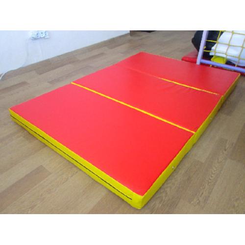 Спортивный складной мат 150-100-10 см с 3-х частей