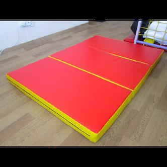 Спортивный складной мат 150-100-10 см с 3-х частей , фото 2