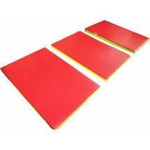 Спортивный складной мат 200-100-5 см с 3-х частей , фото 3