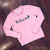 Свитшот женский весна-осень Princess (размер универсал 42/46) (цвет розовый) СП