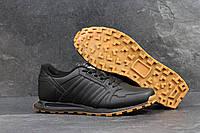 Кроссовки мужские Adidas Neo SD-4302 Материал натуральная кожа. Черные